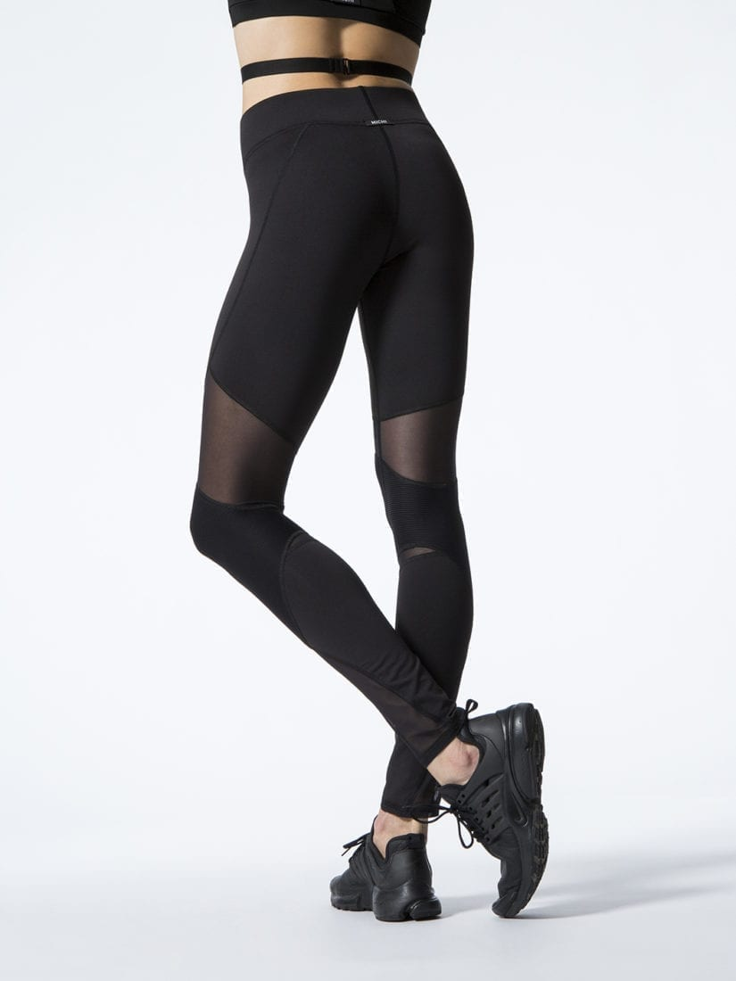 Lu0026#39;URV Leggings The Shimmers Leggings Black Sexy Workout Tights