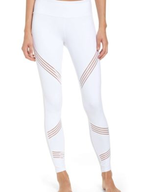 ALO Yoga Multi Leggings Sexy Yoga Pants – Pilates Leggings White