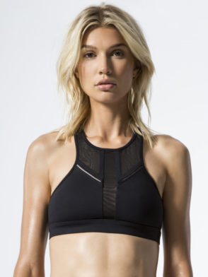 ALO Yoga Half Moon Bra -Sexy Workout Bra Tops Black