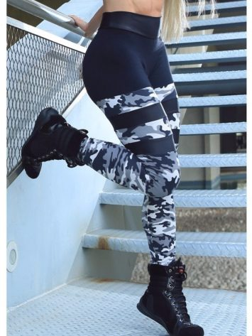 DYNAMITE Brazil Leggings L2093 Striped Camo Leggings