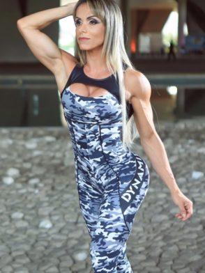 DYNAMITE Brazil Jumpsuit ML2018 Gray Camo-Sexy One-Piece Romper