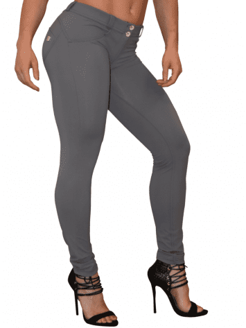 FREDDY WR.UP Shaping Effect – Low Rise – Skinny – Cellulite Reduction GRAY