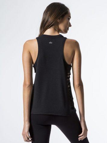 ALO Yoga Cut It Out Sexy Tank -Sexy Yoga Tops Black