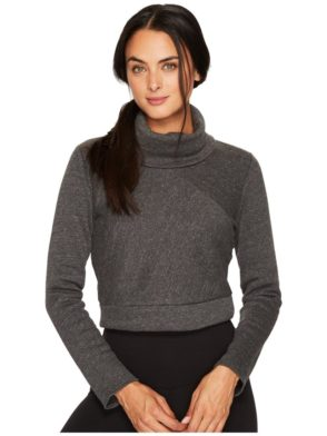 ALO Yoga Long Sleeve Top Soleil – Sexy Yoga Tops Charcoal Heather