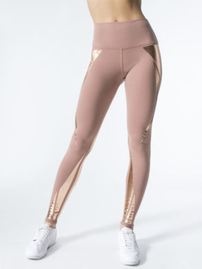 ALO Yoga Airbrush Legging High-Waist Sexy Leggings Rosewater Gold Facet