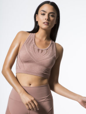 ALO Yoga Lark Crop Top -Sexy Yoga Tops Rosewater