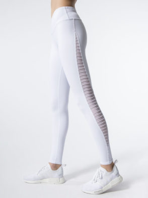 ALO Yoga Luminous Legging Mesh White Sexy Yoga Leggings