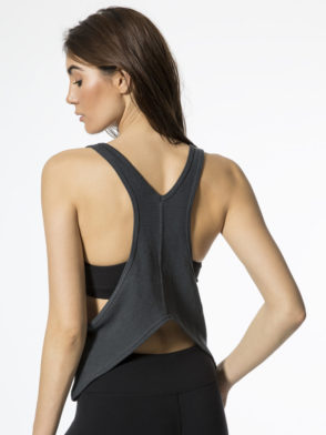 ALO Yoga Centered Tank -Sexy Yoga Tops Anthracite