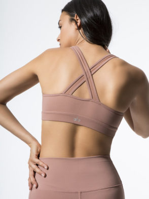 ALO Yoga Entice Bra -Sexy Workout Bra Tops Rosewater