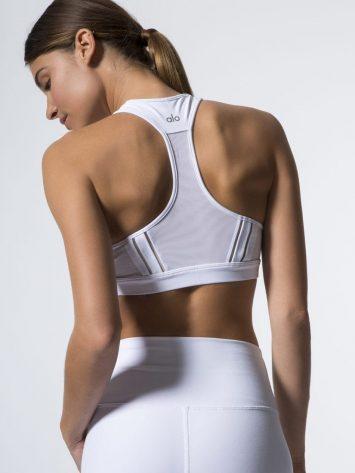 ALO Yoga Half Moon Bra -Sexy Workout Bra Tops White
