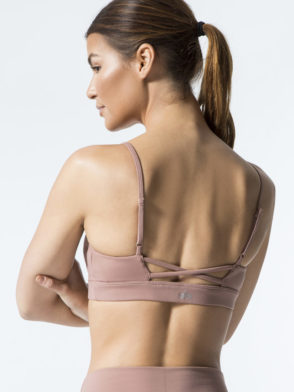 ALO Yoga Bra Interlace Bra -Sexy Workout Bra Tops Rosewater