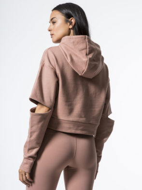 ALO Yoga Peak Long Sleeve Top -Sexy Yoga Tops Rosewater