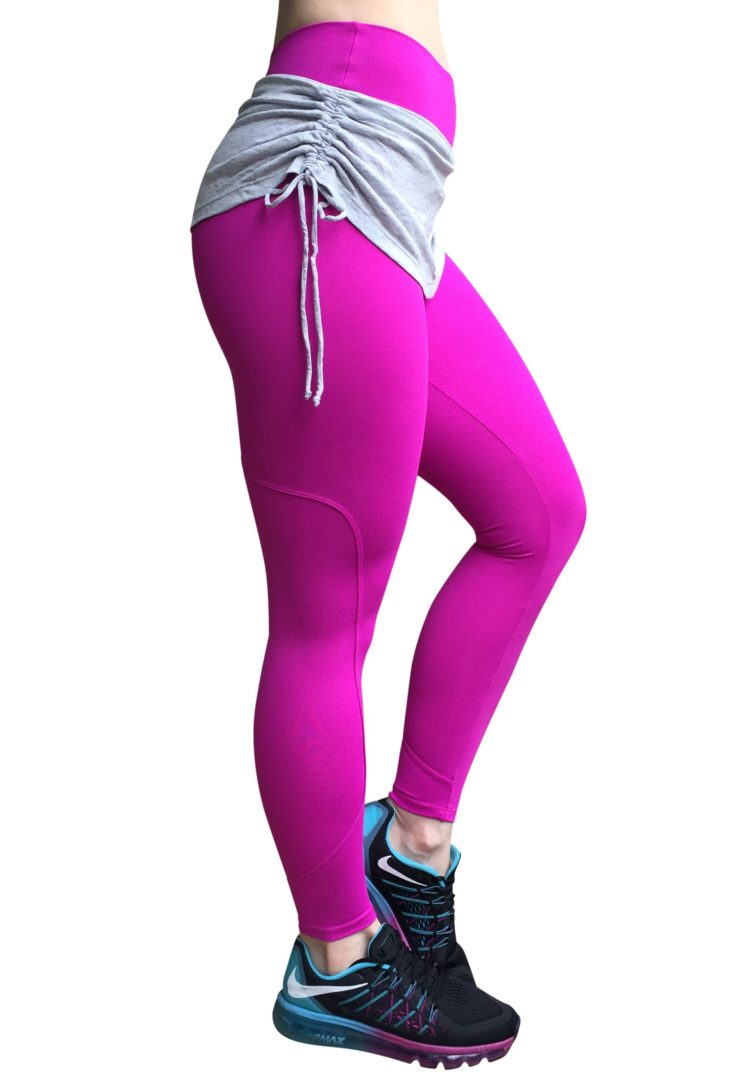 CAJUBRASIL Leggings 5238 Hot Pink- Cute Workout Leggings-Brazilian