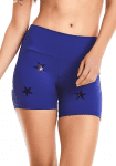 CAJUBRASIL Shorts 9604 Knockout Stars Blue- Sexy Yoga Shorts- Brazilian