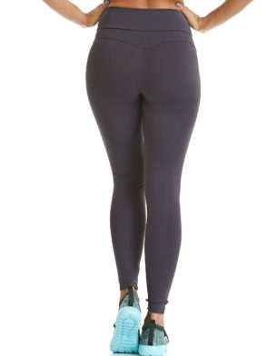 CAJUBRASIL Leggings 9622 Charcoal- Sexy Workout Clothes-Brazilian