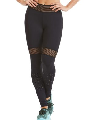 CAJUBRASIL Leggings 9637 Black- Cute Workout Clothes-Brazilian