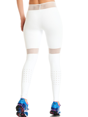 CAJUBRASIL Leggings 9637 White- Cute Workout Clothes-Brazilian