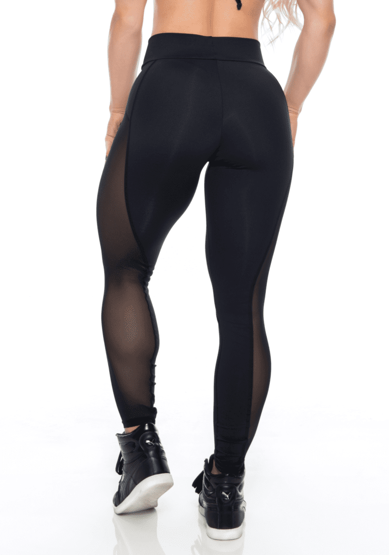 BOMBSHELL BRAZIL Leggings BRIGHT SEXY BLACK MESH -Sexy Leggings