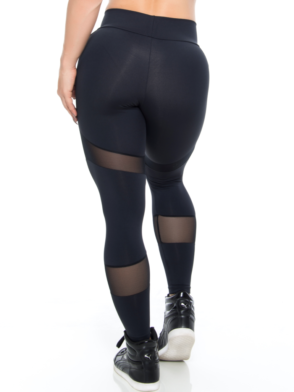 BOMBSHELL BRAZIL Leggings SEXY BLACK MESH -Sexy Leggings