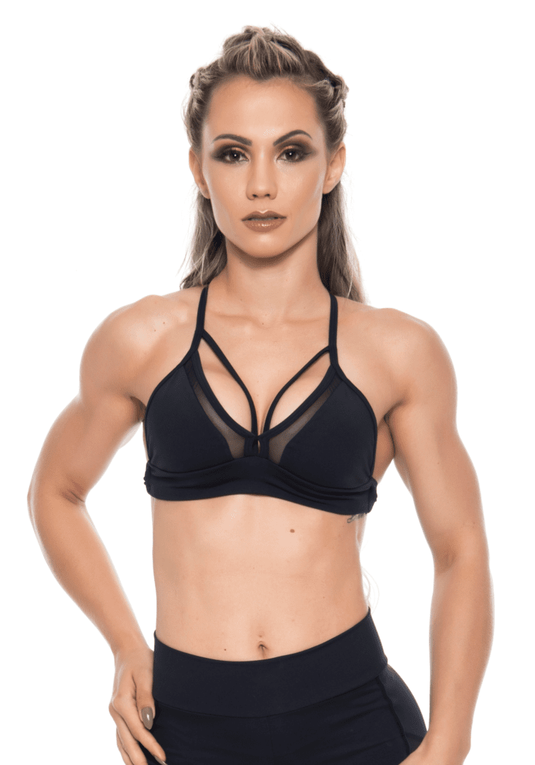 Bombshell Brazil Sports Bra Hot Girl Black Sexy Workout Top