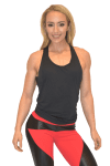 BFB Activewear Tank Top TRIP Black-Sexy Workout Top