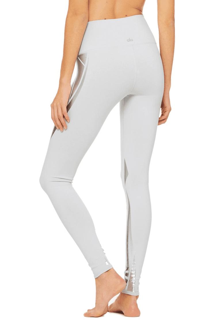 ALO Yoga Airbrush Legging High-Waist Yoga Leggings Sexy Leggings Silver Facet