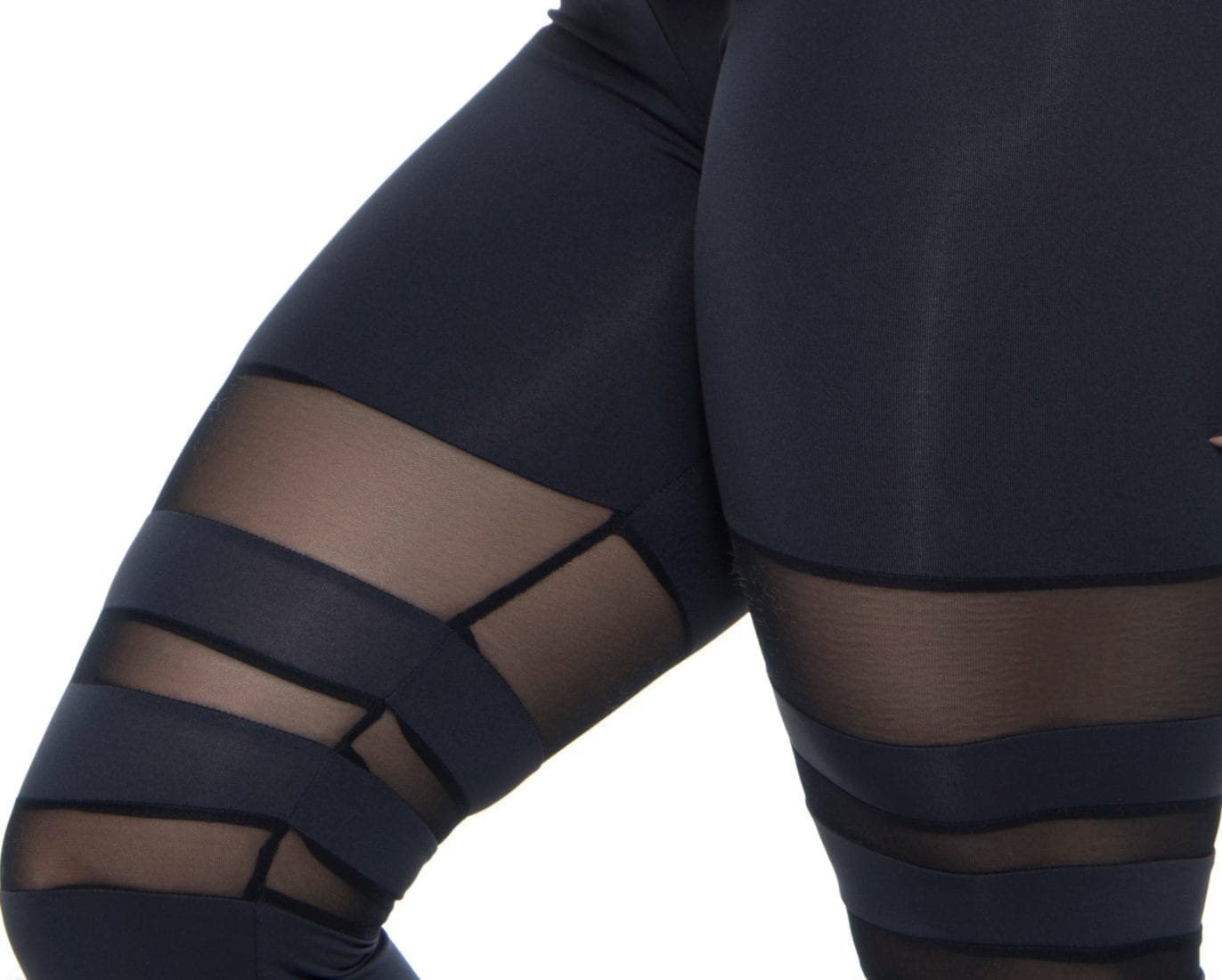 BOMBSHELL BRAZIL Leggings SEXY COLLEGE Black Mesh -Sexy Leggings
