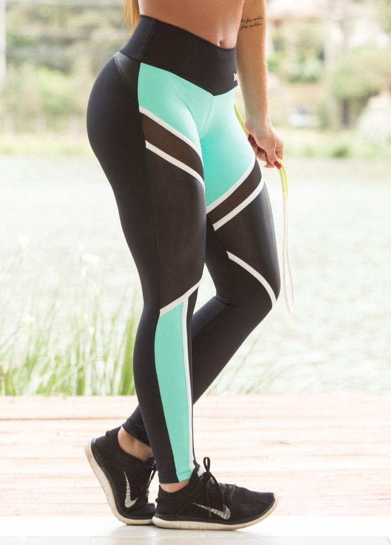 623cbdea9b3f9 OXYFIT Leggings 14441 Soft BK- Sexy Workout Leggings Cutout Mesh Panels