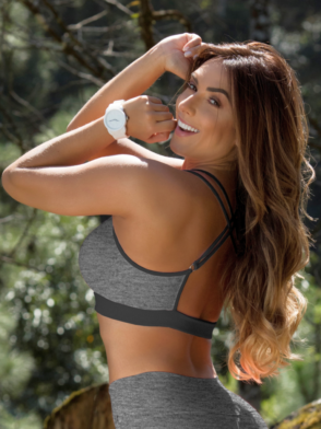 OXYFIT Bra Top Amarilis 27116 Heather Mesh- Sexy Workout Bra - Cute Yoga Top
