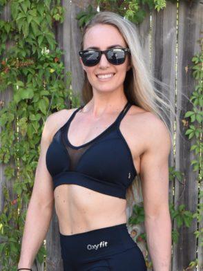 OXYFIT Bra Top Season 27133 Black- Sexy Workout Bra – Cute Yoga Top