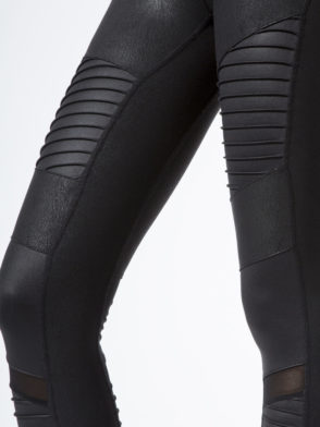 ALO Yoga Sexy High-Waist Moto Yoga Leggings Sexy Leggings Performance Leather
