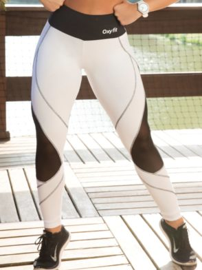OXYFIT Leggings Season 64115 White- Sexy Workout Leggings