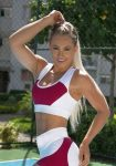 BOMBSHELL BRAZIL Sports Bra Fabulous Marsala - White -Sexy Workout Top