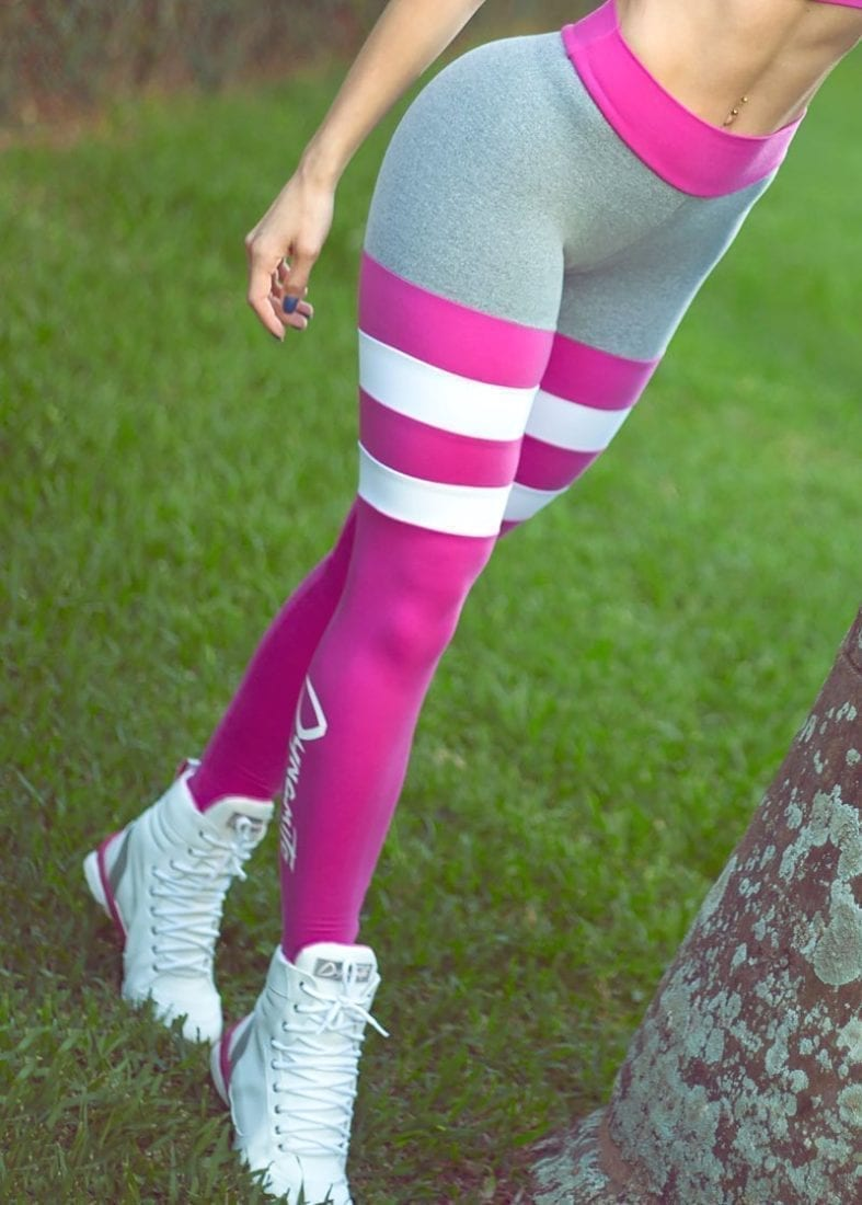4be730487 DYNAMITE Brazil Legging Angel L2093- Blush Stripes Pink Grey - Sexy ...