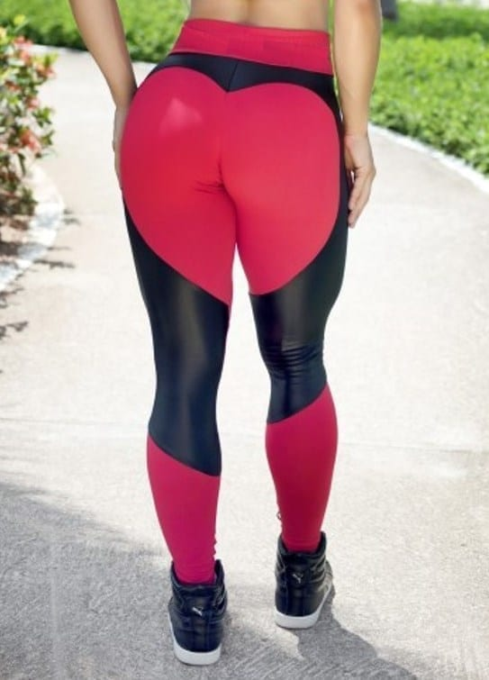 BOMBSHELL BRAZIL Leggings SEXY CLUBBER Red Mesh -Sexy Leggings