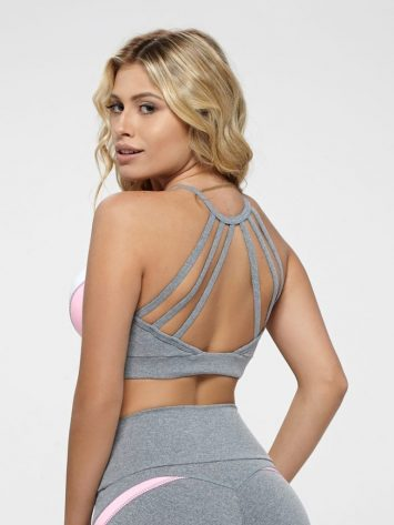 OXYFIT Bra Top Score 27137 Jersey- Sexy Workout Bra - Cute Yoga Top