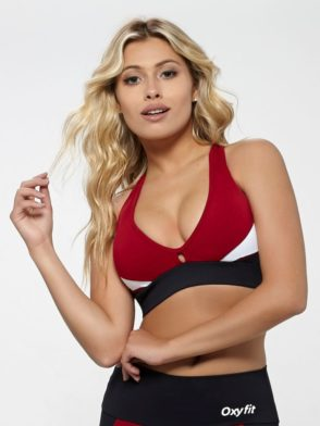 OXYFIT Bra Top Reach 27138 Red- Sexy Workout Bra – Cute Yoga Top