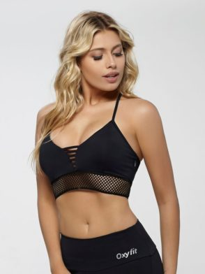 OXYFIT Bra Top Jump 27143 Black- Sexy Workout Bra – Cute Yoga Top