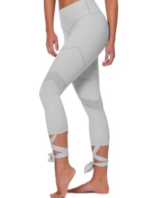 L'URV Leggings MY UNIVERSE TIE 7/8 LEGGING Gray Sexy Workout Tights