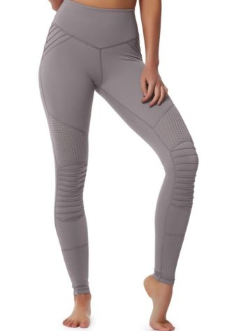 L'URV Leggings COOL CHANGE MOTO Leggings Sexy Workout Tights Lilac