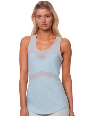 L'URV Tank NEW BEGINNINGS CAMI Sexy Workout Top Blue