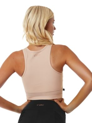 L'URV Sports Crop Top SOUND OF SILENCE Crop Sexy Workout Top Blush