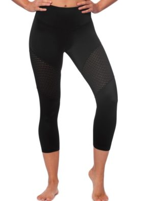 L'URV Leggings OCEANS BENEATH 3/4 Leggings Sexy Workout Tights Black