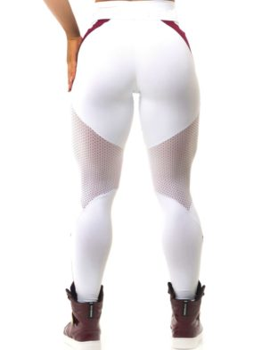 BFB Activewear Leggings Body Power Marsala - White - Sexy Leggings