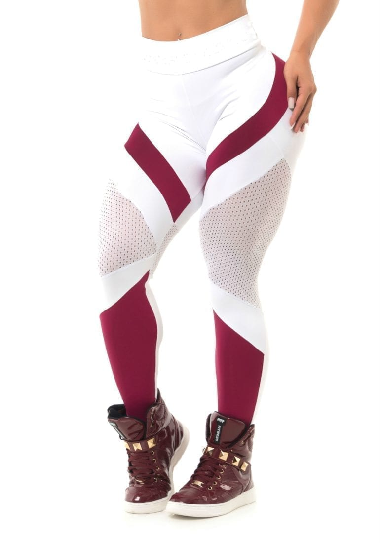 BFB Activewear Leggings Body Power Marsala - White - Sexy Leggings
