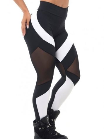 BFB Activewear Leggings Body Power Mescla - black & white - Sexy Leggings