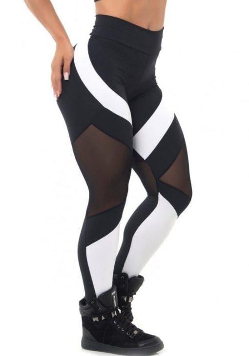 BFB Activewear Leggings Body Power Mescla - black & white - Sexy Leggings
