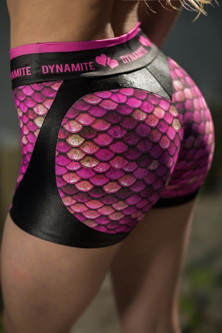 DYNAMITE BRAZIL Shorts SH2094 Apple Booty Mermaid Sexy Shorts