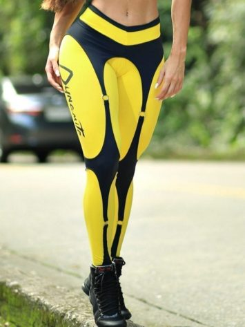 DYNAMITE Brazil Leggings L989 Sunshine Sexy Workout Leggings