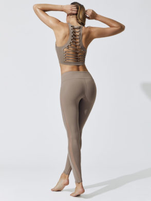ALO Yoga Movement Bra -Sexy Workout Bra Tops Gravel